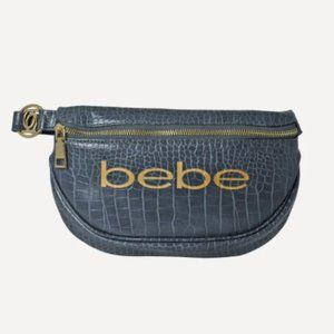 BEBE Josephine Croco Convertible Sling Bag Grey